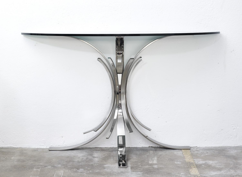 console-gerbe-de-maria-pergay-pour-design-steel-1972-image-01